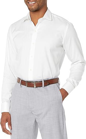 Marca Amazon - Buttoned Down - Camisa de vestir con puño francés de corte entallado de algodón Supima para hombre que no necesita planchado