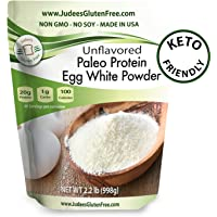 Egg White Protein Powder (2.2 lbs) Keto, Non GMO, Dairy Free, Soy Free, Dedicated Gluten & Nut Free Facility, Made in USA (4 lb & 44 lb Bulk Size Options Also Available)