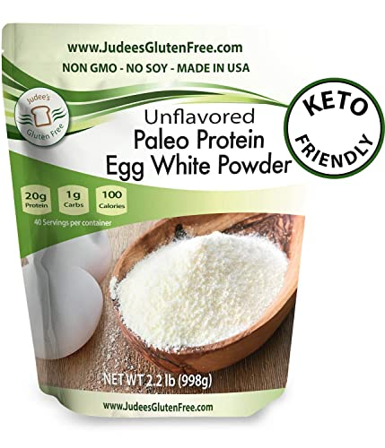 Egg White Protein Powder 2.2 lbs Keto, Non GMO, Dairy Free, Soy Free, Dedicated Gluten Nut Free Facility, Made in USA 4 lb 44 lb Bulk Size Options Also Available