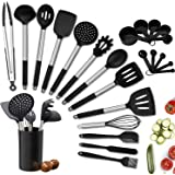 Kitchen Utensils Set, 24pcs Silicone Cooking Kitchen Utensils Set with Heat Resistant BPA-Free Silicone and Stainless Steel H