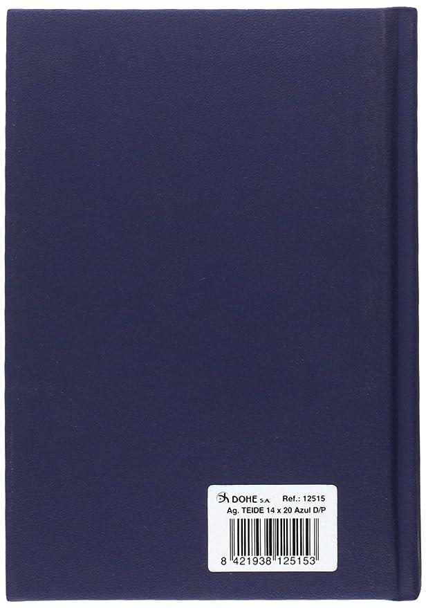 Dohe 12515 - Agenda día página con diseño Teide, 14 x 20 cm, color azul