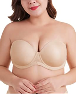 f74639a11a39 DotVol Women s Multiway Strapless Bra Full Figure Underwire Contour Beauty  Back Plus Size Bra