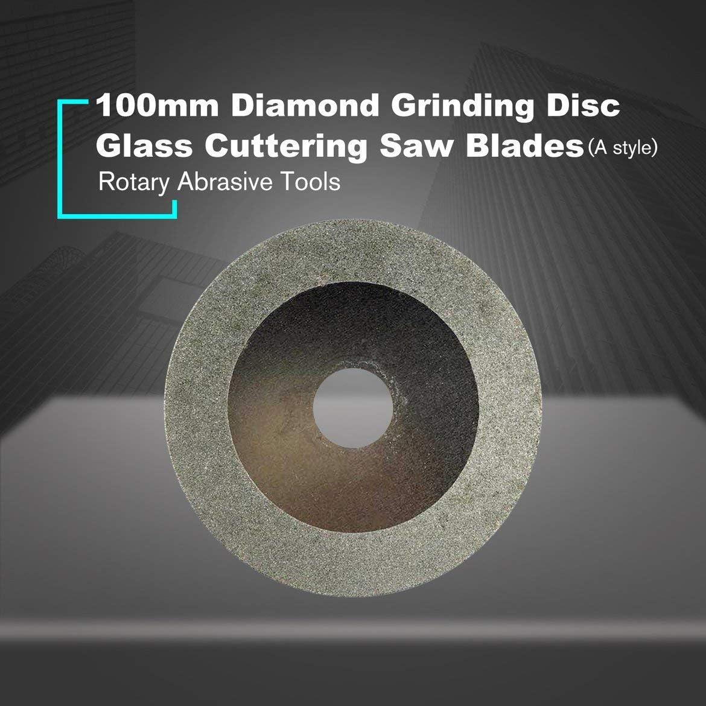 Argent Meule diamant/ée 100MM Disques /à tron/çonner Roue Coupe-verre Lames de scie Lames de coupe Outils abrasifs rotatifs