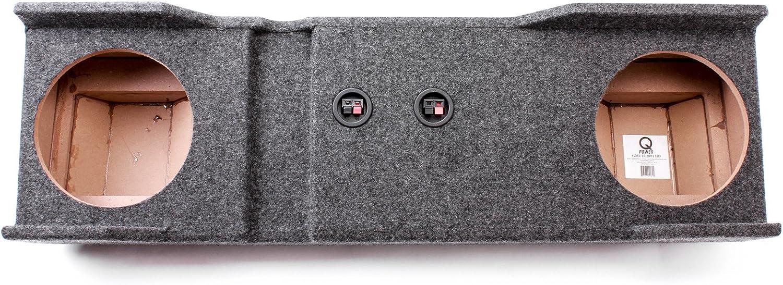 Qpower Dual 10 Chevy//GMC Crew Cab Empty Woofer Box 01-07 1500//2500//3500 HD