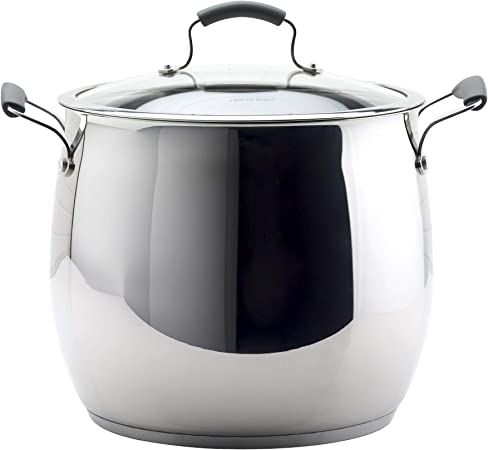 Epicurious Cookware Collection- Dishwasher Safe Oven Safe, Heavy Gauge Stainless Steel 18 Quart Covered Stock Pot
