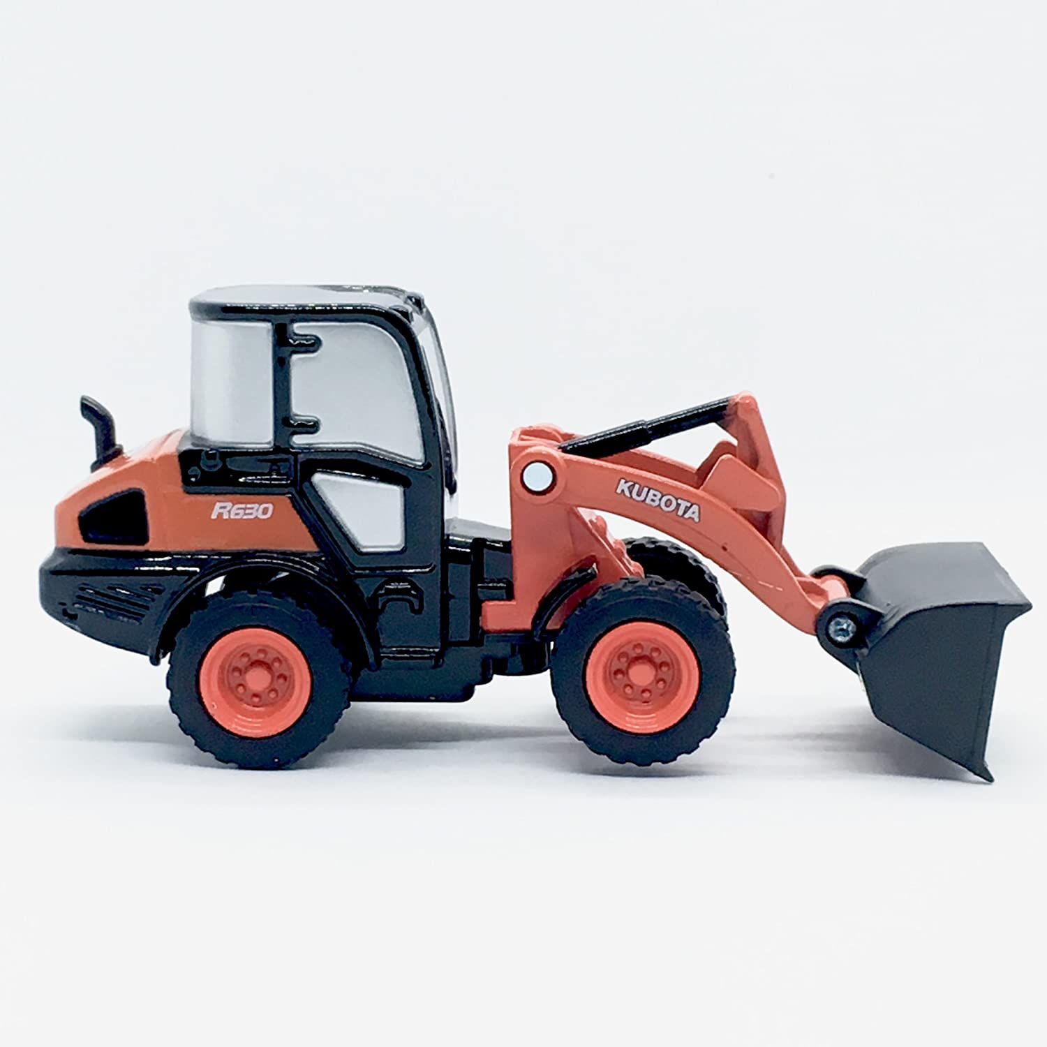 Kubota R630 Wheel Loader 1:64 Scale Construction Vehicle with Pull Back Motor Action from NewRay