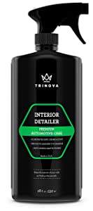 Interior Quick Detailer - Stain Remover, Dashboard Cleaner and Protectant, Car Vinyl, Rubber, Leather Cleaning tool. 18oz TriNova