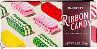product image for Hammond's Candies – Hand Spun Ribbon Candy - 5 Flavor Variety Pack, Cream Gift Ready Box, Handcrafted by Artisan Confectioners- Classically Delicious, Proudly Made in Denver Colorado- USA