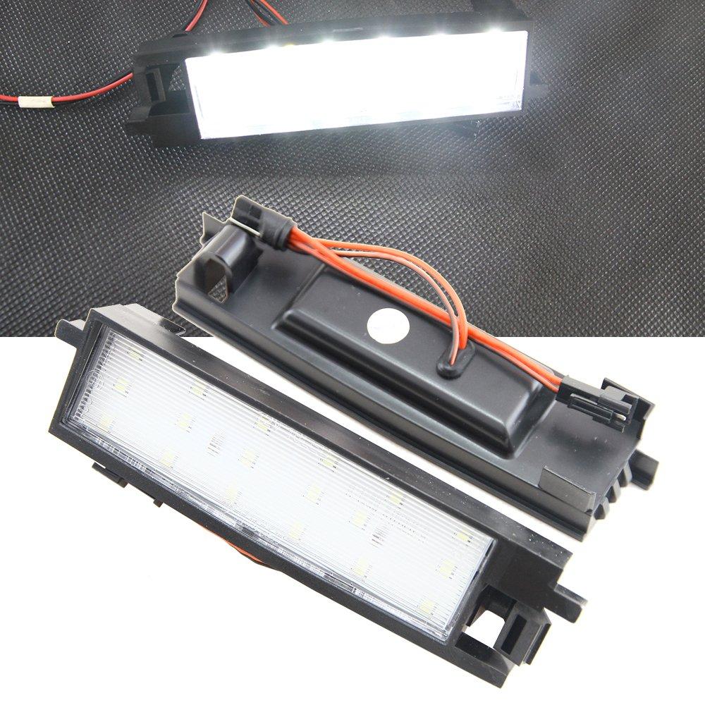 NSLUMO 2x Bright White 18SMD LED License Plate Lights For To-yota RAV4 XA40 2013-2015 Auris 2014 Tail Parking Driving Light Newsun