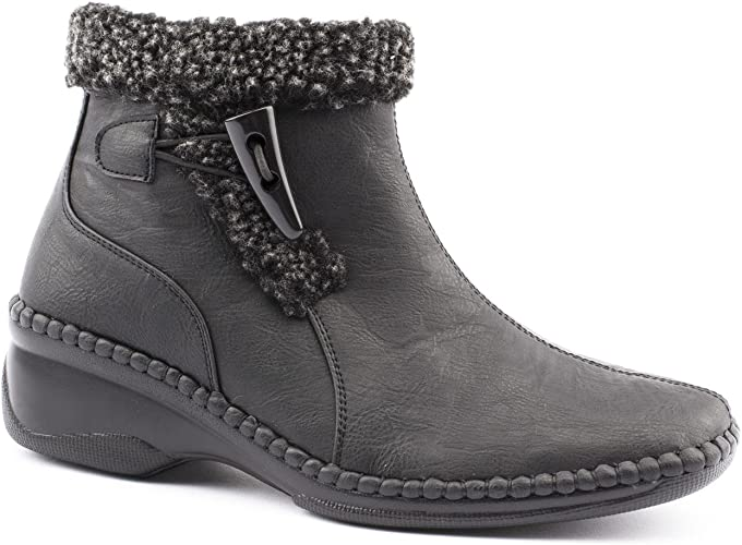 Caravelle Ladies Wide Fit Cosy Warm