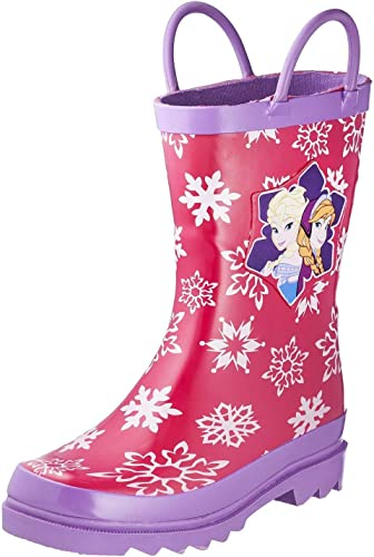 Disney Store Frozen Rain Boots Purple with lace Size 1