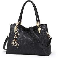 FOXER Women Leather Handbag Purse Top Handle Tote Shoulder Bag