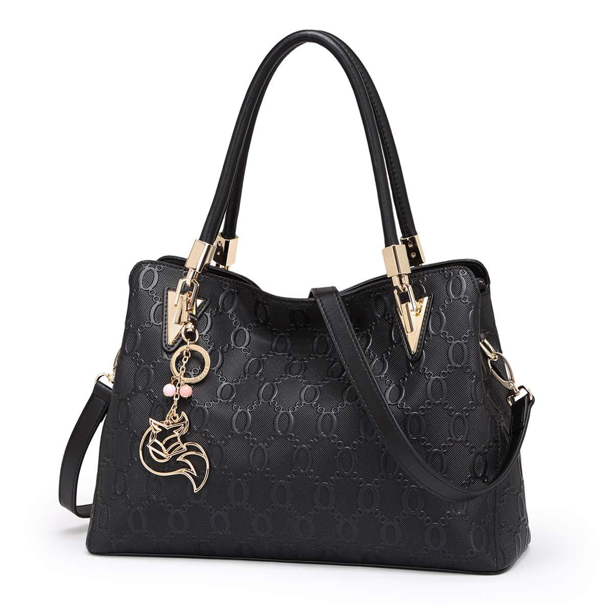 Genuine Leather Handbag for Women Ladies Top-handle Tote Crossbody Shoulder Bag