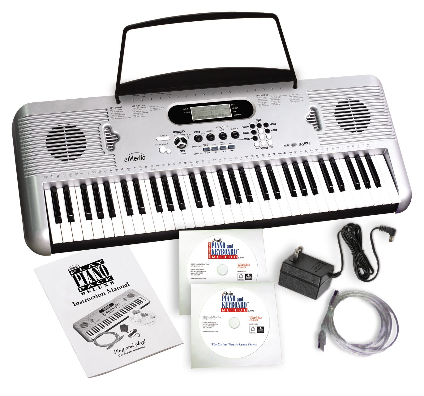 eMedia Play Piano Pack Deluxe with 450 Interactive Keyboard Lessons EK07105