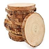 Unfinished Natural Wood Slices 12 Pcs 3.5-4 inch Craft Wood kit Circles Crafts Christmas Ornaments DIY Crafts with Bark…