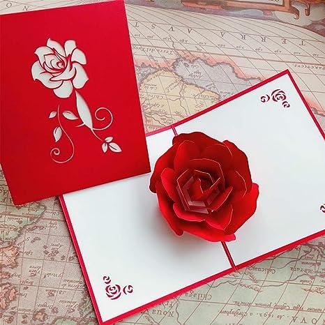 Christmas Greeting Cards Handmade.Amazon Com Wukong 3d Greeting Cards Birthday Card Pop Up