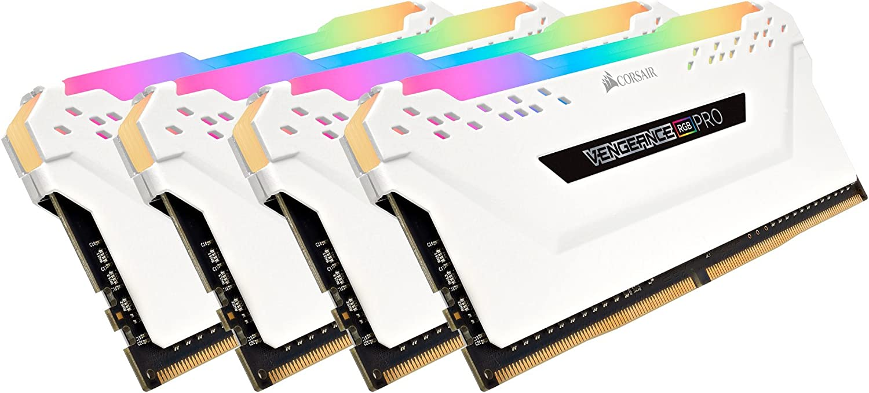 Corsair Vengeance RGB Pro 64GB (4x16GB) DDR4 3200 (PC4-25600) C16 Desktop Memory - White (CMW64GX4M4C3200C16W)