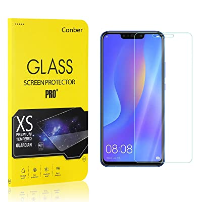 Conber (4 Pack) Screen Protector for Huawei P Smart Plus 2020 / Huawei Nova 3I, [Scratch-Resistant][Anti-Shatter] Tempered Glass Screen Protector for Huawei P Smart Plus 2020 / Huawei Nova 3I: Baby