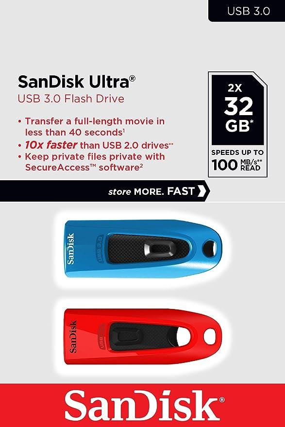 SanDisk Memoria Flash USB Ultra de 32 GB con USB 3.0 y hasta 100 ...