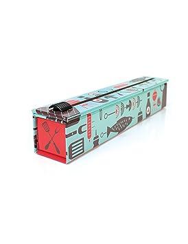 ChicWrap Dispensador de papel de herramientas BBQ con 12 x 30 rollo de papel