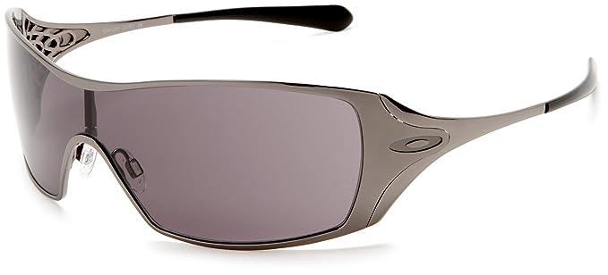5515766adb3c ... sunglasses 21601 5832c discount amazon oakley womens dart  sunglassesblack chrome frame warm grey lensone size oakley clothing 268ae  25b8b ...