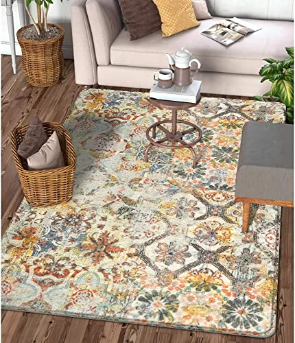 Lahome Floral Medallion Collection Area Rug