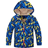 Kinderkind Girls Sherpa Bomber with Ribbed Knit Waistband Sizes 4T-5T-6-7