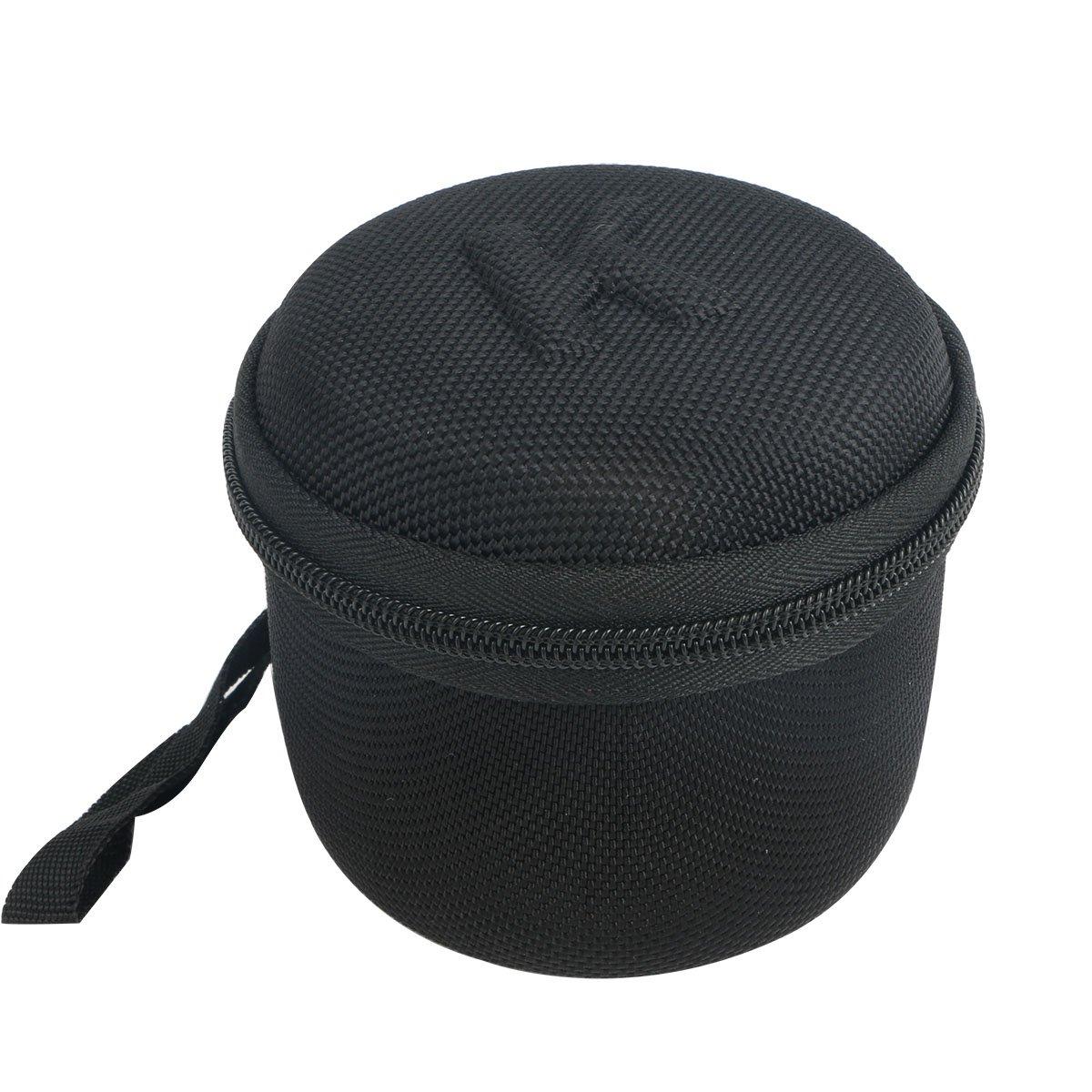 Khankaハードストレージキャリー旅行ケースバッグEasyAccミニポータブルワイヤレスBluetoothスピーカー。メッシュポケットfor USBケーブル – ブラック   B01EFP6BM6