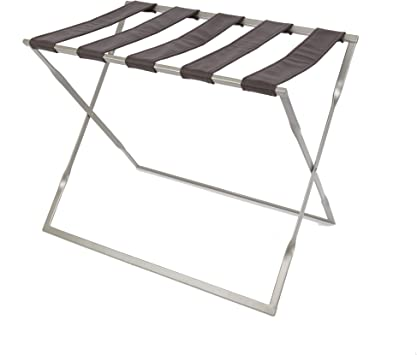 Amazon Com Silverwood Dylan Metal Folding Luggage Rack In Silver Furniture Decor