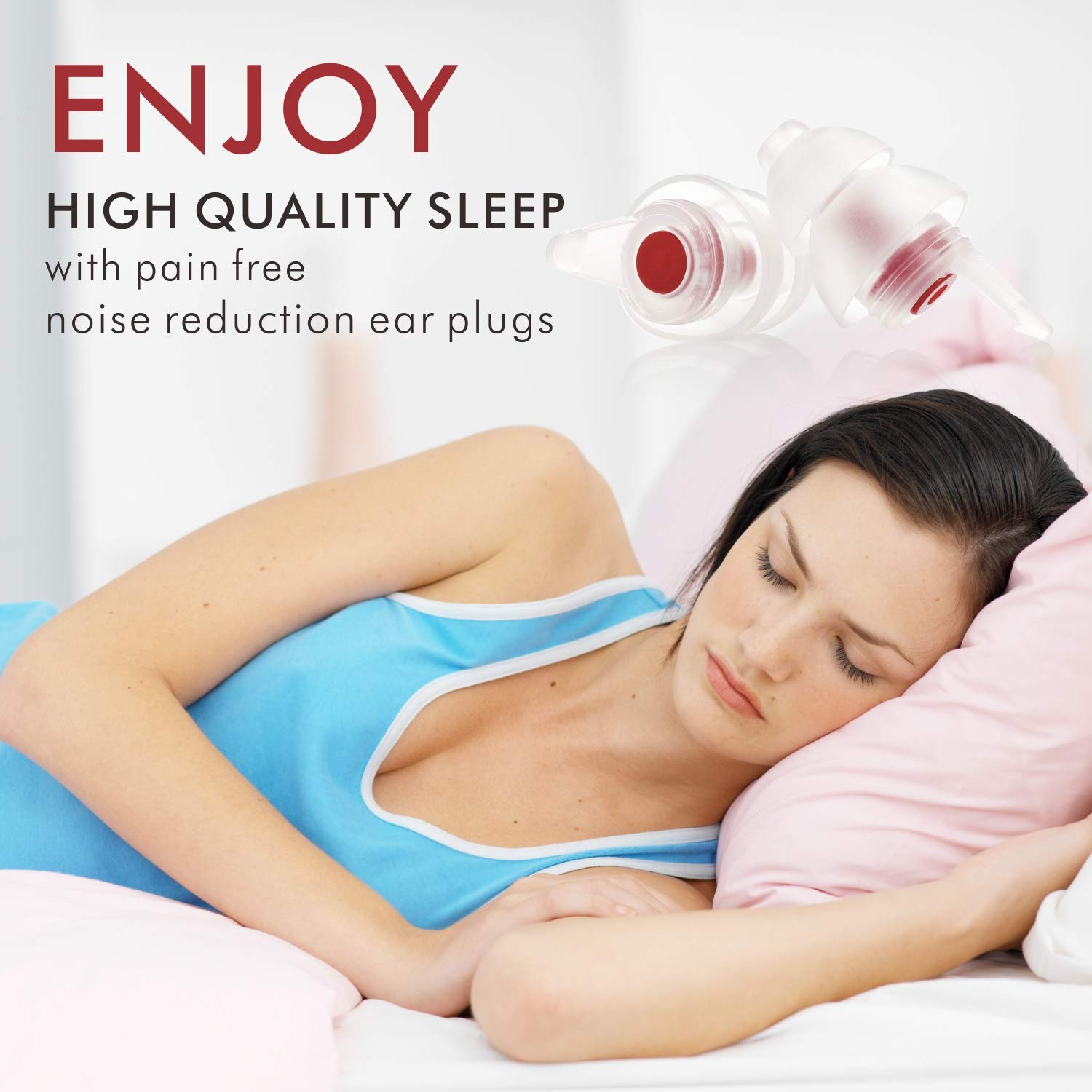 Small Ear Plugs for Sleeping, Ear Plugs for Women with Smaller Ear Canals-Upgraded Filter(SNR31dB)- Noise Reduction Ear Plugs for Snoring,Work, Office,Airplane Travel, Gardening by softvox (Image #3)