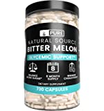 Bitter Melon, 730 Capsules, 1245mg Serving, 8 Month Supply, 100% Pure & Natural Herbal Supplement with No Fillers, Non…