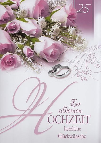 Anniversario Di Matrimonio Nozze Dargento.A4 Xxl Biglietto D Auguri Nozze D Argento 25 Anniversario Di