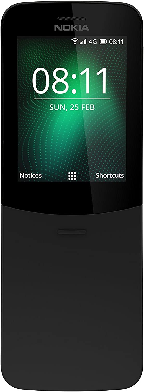 Nokia 8110 - Teléfono Celular con Llaves, 4G Memoria de 4 GB, Cámara de 2 Mp, 2,45