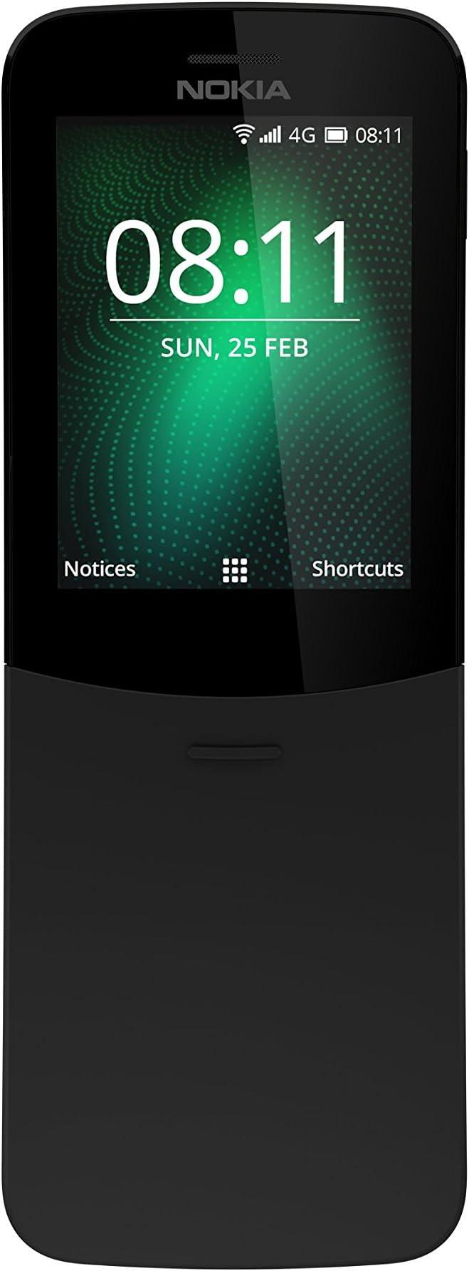Nokia 8110 Mobiltelefon Ip52 Schwarz Elektronik