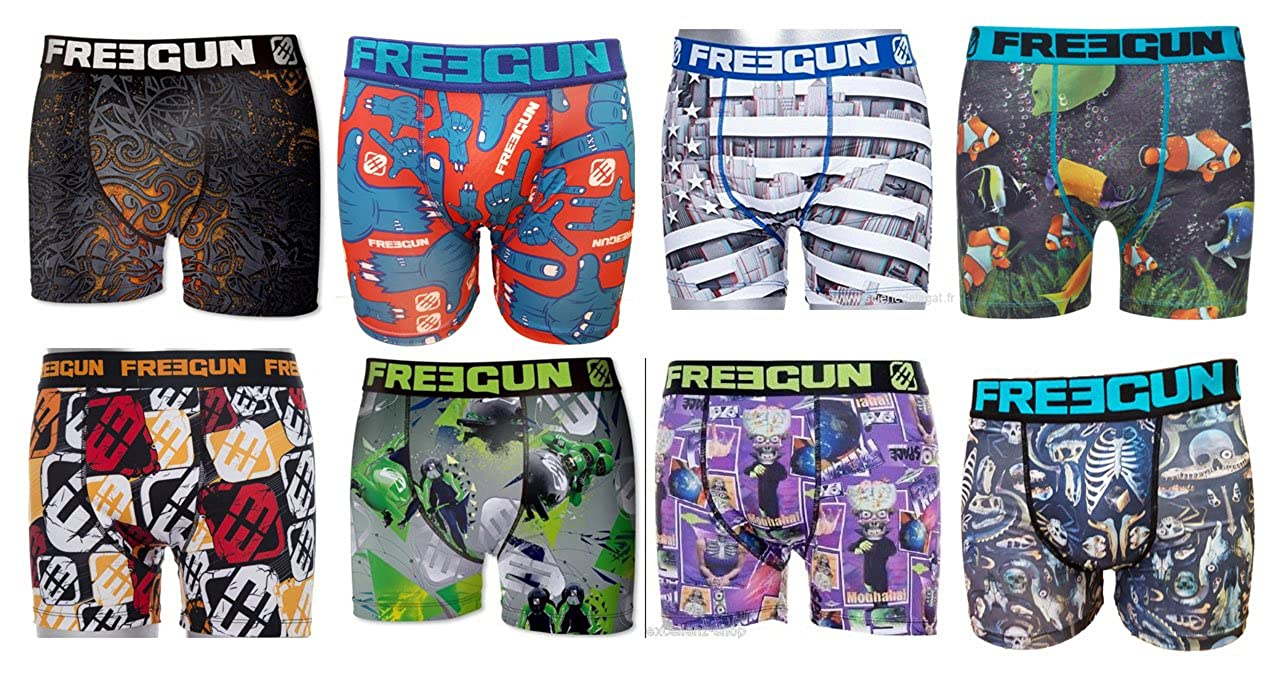 Freegun Boxer Homme Pack Assorti Lot de 8 (S) Store In France