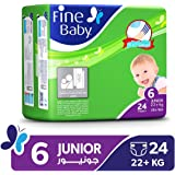 Fine Baby Diapers Green Fast Sorption, Junior 16+ Kgs, Economy Pack, 24 Count