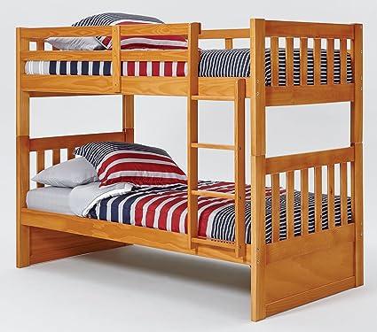 Amazon Com Chelsea Home Furniture 36tt700 Twin Over Twin Mission