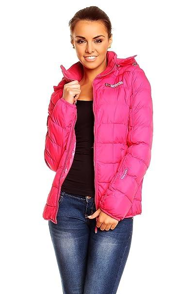 Geographical Norway Barbara Mujer Chaqueta de invierno chaqueta acolchada chaqueta de invierno rosa medium: Amazon.es: Ropa y accesorios