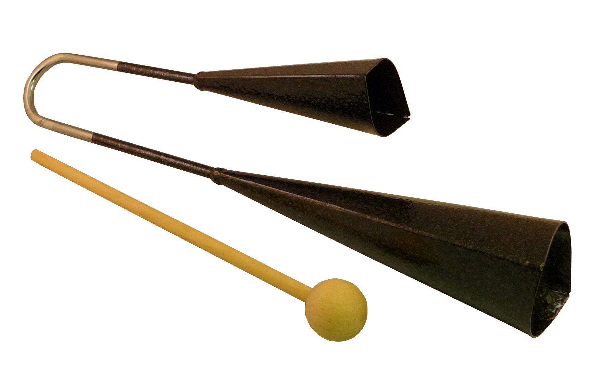 Suzuki Musical Instrument Corporation AB-200 Agogo Bells with Wood Strikers by Suzuki Music