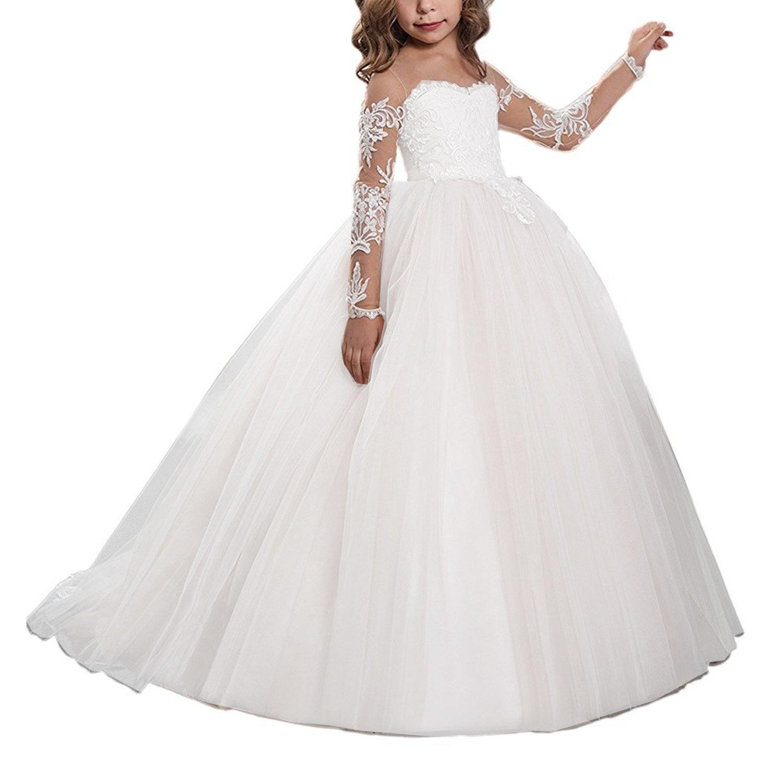 Nina Flower Girls Dress for Wedding Pageant First Communion DressWE14