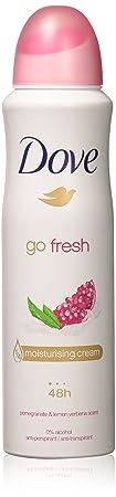 12 PACK DOVE Dry Spray Antiperspirant 48 hours, Go Fresh Pomegranate Lemon Verbena 5oz