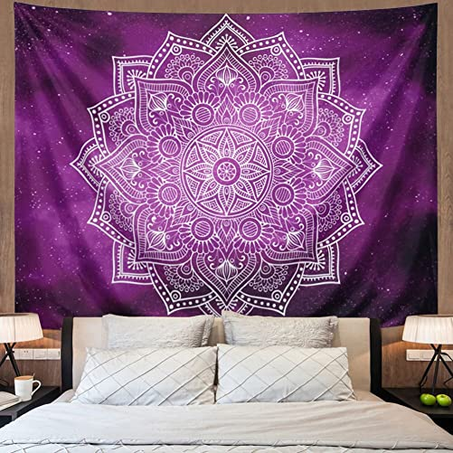 Tapestry Mandala Tapestry Wall Hanging Indian Hippie Bohemian Tapestries Tapestries Purple Starry Sky Tapestry Flower Wall Tapestry Psychedelic Mandala Tapestry Galaxy Tap X-Large, 10 purple Mandala
