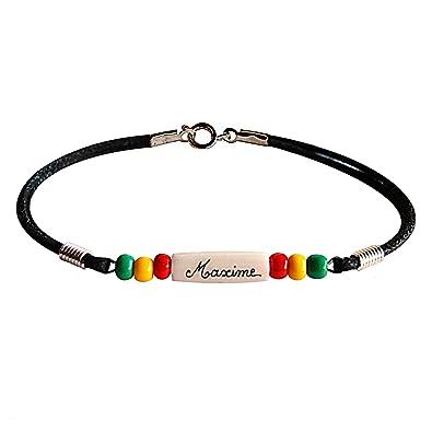 Yves Boucher Bracelet Enfant Personnalisé Reggae Taille1 16cm  Amazon.fr   Bijoux 6c3af39d60b6