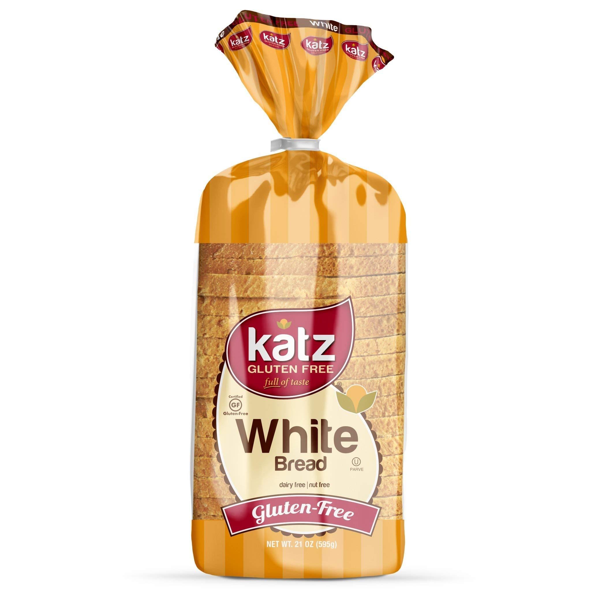 Katz Gluten Free White Bread | Dairy, Nut & Gluten Free | Kosher 21 Oz (1 Pack)