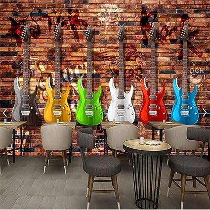 Sucsaistat Fondos De Pantalla, Murales, 3D,Graffiti Retro Guitarra ...