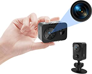 PEDZEN Full HD 1080p Mini Spy Hidden Camera with PIR Motion Detector and Night Vision Small Nanny Cams Portable Indoor Video Cameras Home Security Surveillance Camera 60 Days Standby-(No WiFi)