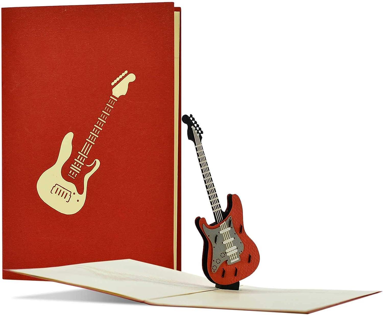 Rockige H23 - Tarjeta de cumpleaños con cupón de guitarra o regalo para músicos
