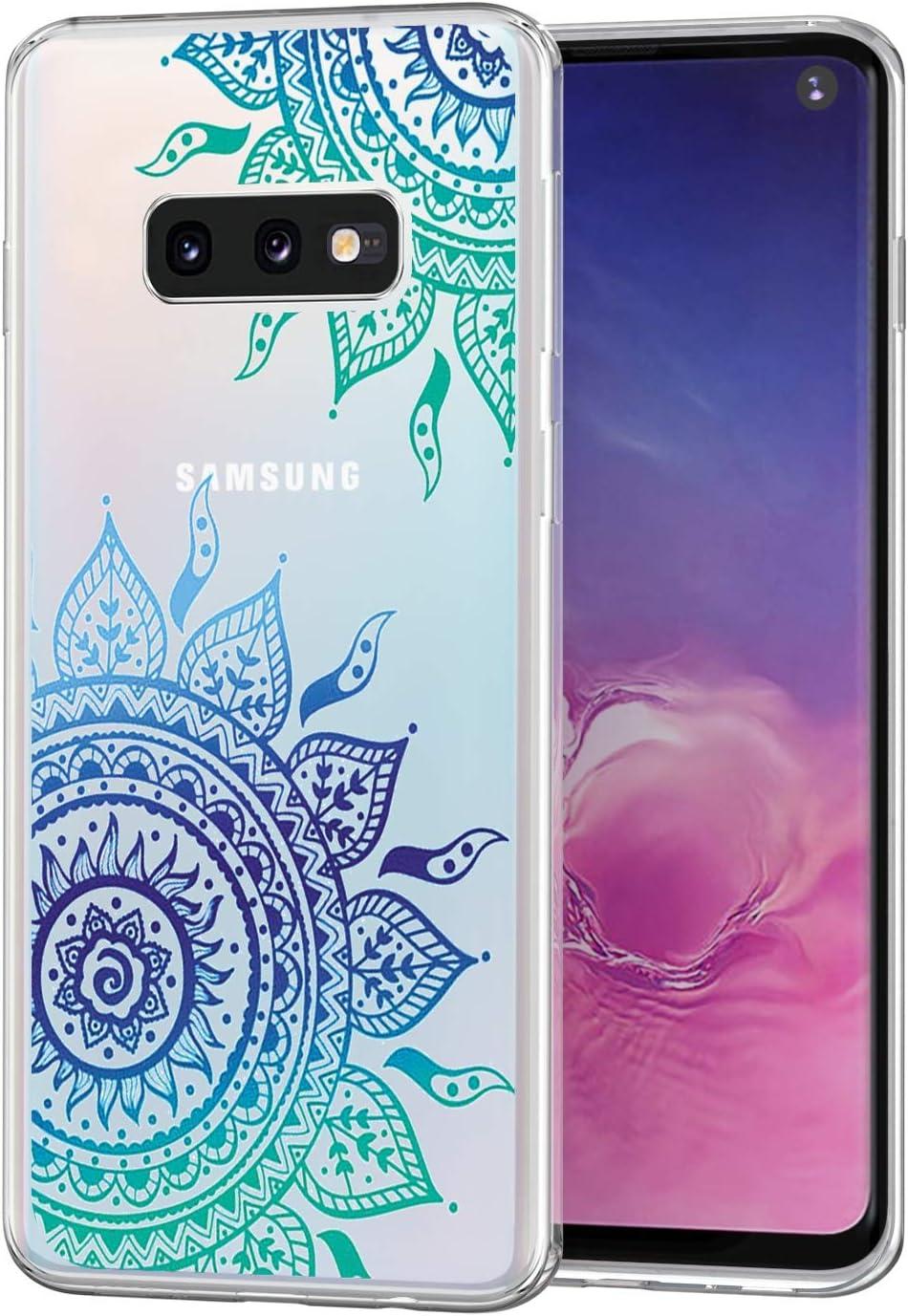 3x Coque pour Samsung Galaxy S10e 5.8 Pouces // S10 Lite Papillon Bleu Tour Etui Transparent Silicone TPU Mince L/éger Souple Professionnel Nouveau Housse Protecteur C/œur