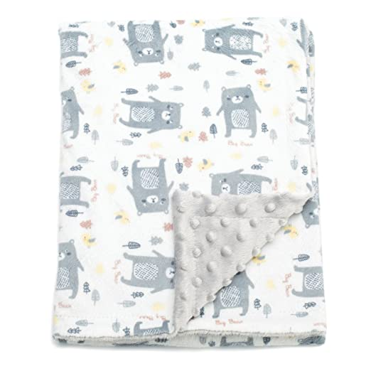 Boritar Baby Blankets Soft Minky with Double Layer Dotted Backing