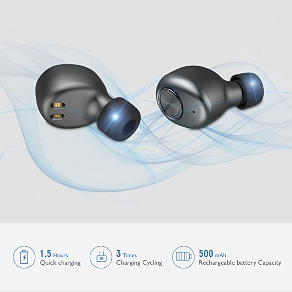 Wireless Bluetooth Auriculares Mini TWS Twins 4.2 Stereo Headset Auriculares in-Ear Tapones con Mic para iPhone Android Samsung Auto Business de Auriculares ...